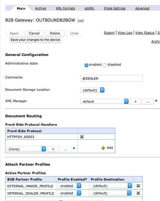 Using DataPower IDG Appliance as B2B gateway  Barebone sample of B2B